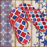 Patriotic Sarasota Sandals I