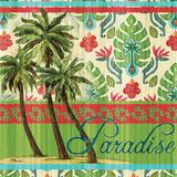 Tropical Ikat Palm I