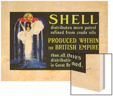 Shell Oil Ad  Goddess British Empire  1924