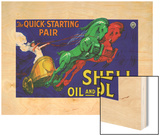 Shell Oil & Petrol Ad  Quick Starting Horses  1926