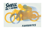 Shell Oil & Petrol Ad  Motorcycle Favorites  1928