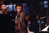 Hugh Jackman as Wolverine in X-Men Movie on a Fight Scene