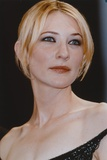 Cate Blanchett Posed in Black Dress Portrait
