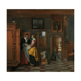 Interior with Women Beside a Linen Cupboard