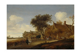 A Village Inn with Stagecoach  Salomon Van Ruysdael