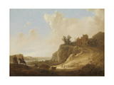 Hilly Landscape with the Ruins of a Castle