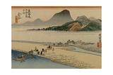 A Procession of a Daimyo Cross a River
