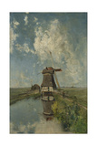 A Windmill on a Polder Waterway  known as in the Month of July