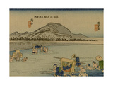 A Woman in a Large Basket Carried on the Abe River by Her Servants
