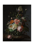 Still Life with Flowers on a Marble Tabletop