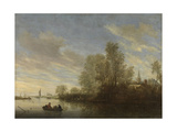 River View Near Deventer  Salomon Van Ruysdael