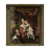 Caritas: Joanna De Geer with Her Children Cecilia Trip and Laurens Trip (B 1662)