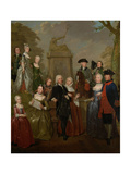 Portrait of Theodorus Bisdom Van Vliet and His Family  Jan Stolker