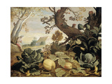 Landscape with Fruits and Vegetables in the Foreground  Abraham Bloemaert