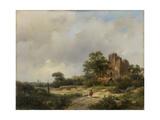Landscape with the Ruins of Brederode Castle in Santpoort