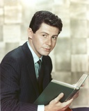 Eddie Fisher Reading Book in Tuxedo Portrait