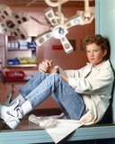 Doogie Howser Poed in Doctor Outfit and Blue Jeans