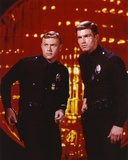 Adam-12 Posed with his Partner Inside the Building in a Movie Scene