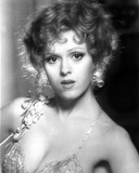 Bernadette Peters Portrait in White V-Neck Halter Silk Dress