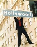 Jackie Chan Hanging in Black Coat