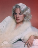 Carroll Baker Posed in a Furry Wardrobe