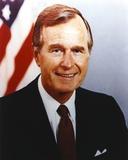 George Bush smiling in Tuxedo Close Up Portrait