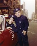 Fred Gwynne Posed in Police Uniform