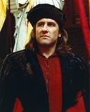 Gerard Depardieu in Black Coat with Hat Portrait