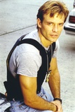 Michael Biehn Posed in Gray Shirt Portrait
