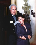 Harvey Korman in Suit and Printed Tie with Woman