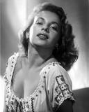 Abbe Lane posed in White Dress Classic Portrait