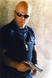 Michael Chiklis Holding Pistol in Sunglasses