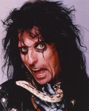 Alice Cooper Making a Wacky Face in a Close up Portrait