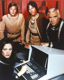 Battlestar Galactica Group Picture in Red Background