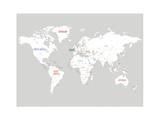 Light Grey World Map