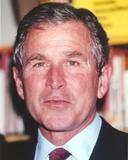 George Bush in Suit Close Up Portrait
