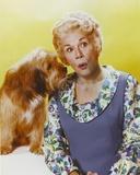 Bea Benaderet in Blue Dress with Dog Portrait