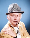 Art Carney Posed in Coat With Cigarette