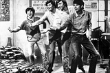 Monkees smiling in Black and White