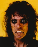 Alice Cooper Making an Angry Face in Closed Up Portrait