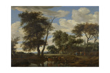 View of a Village  Salomon Van Ruysdael