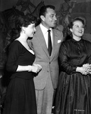Cyd Charisse smiling with Friends in Black and White