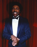 Little Richard Portrait in Tuxedo in Red Curtain Background