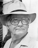 Portrait of Art Carney in Glasses with Hat