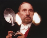 Nigel Hawthorne Posed with a Light Bulb