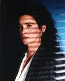 Connie Selleca in Striped Coat Portrait