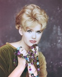 Connie Stevens Posed in Brown Blouse Portrait