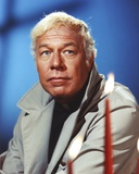 George Kennedy Posed with Popped Out Collar