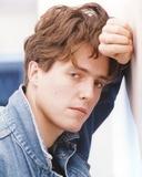 Hugh Grant Portrait in Denim Jacket