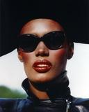 Grace Jones Close Up Portrait